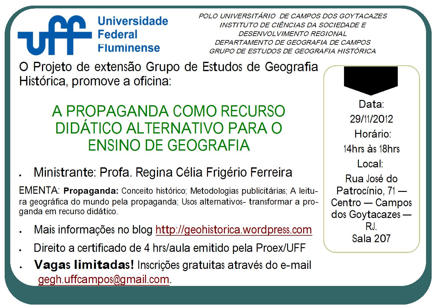 Oficina a propaganda como recurso did tico alternativo for Oficinas seur