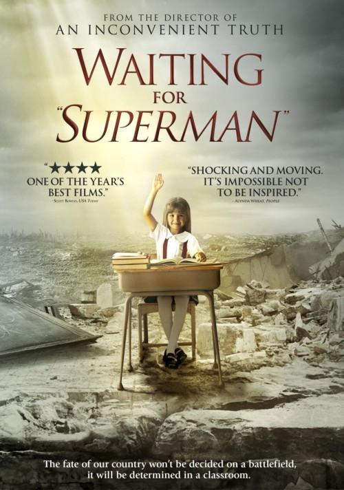 """Cartaz do Documentário """"Esperando pelo Superhomem"""""""