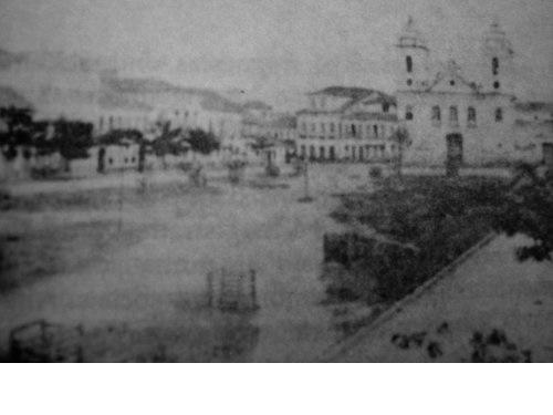 Praça São Salvador, em 1870