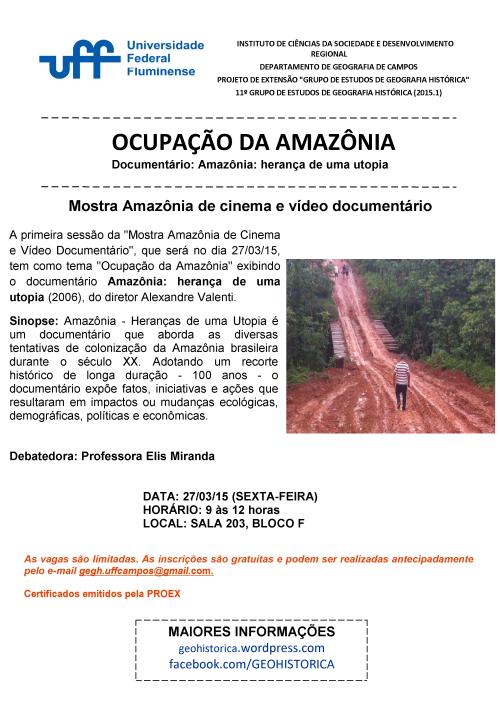 CARTAZ MOSTRA AMAZONIA TEMA 1