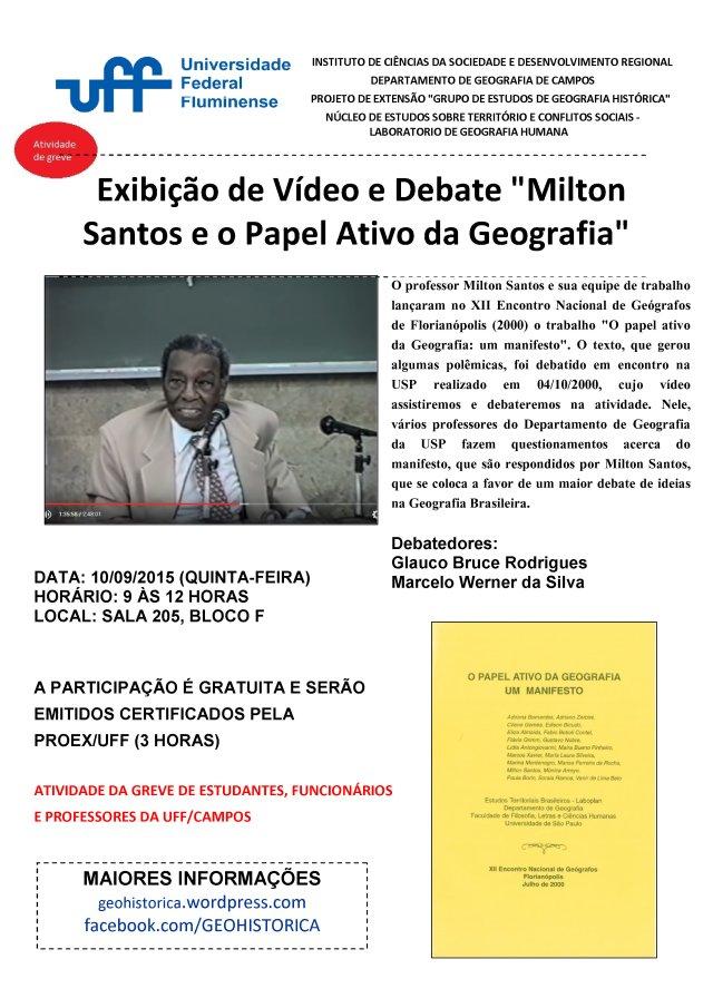 CARTAZ MILTON E O PAPEL ATIVO GEOGRAFIA
