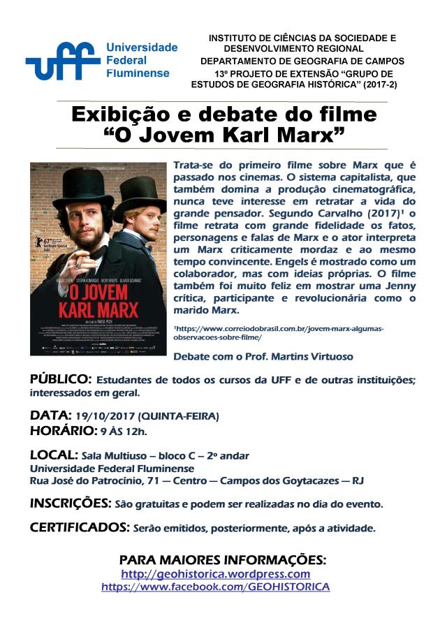 Cartaz GEGH 2017-2 filme O Jovem Marx4.png