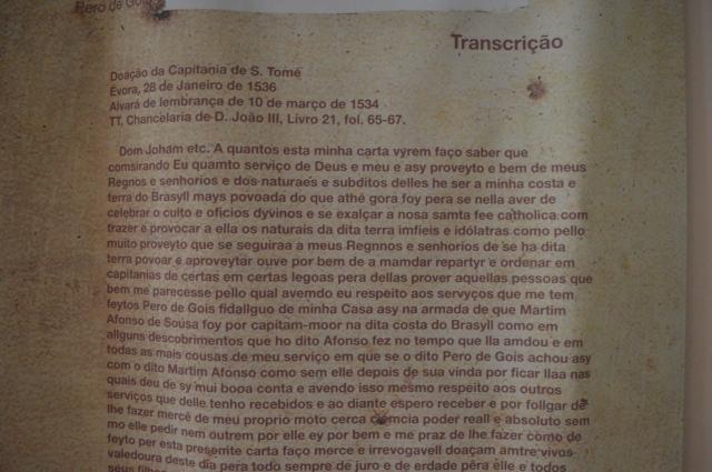 Carta de Pero Goes-transcrição