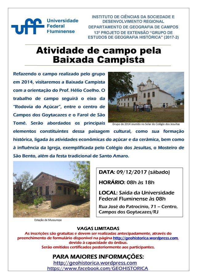 Cartaz GEGH 2017-2 Campo Baixada Campista