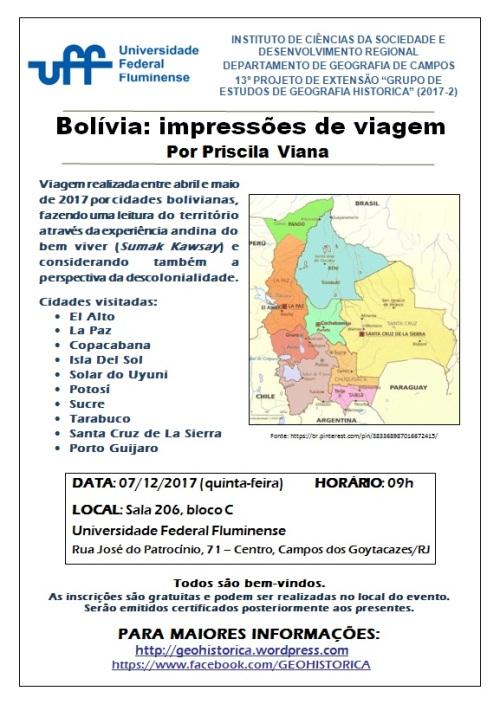 Cartaz GEGH 2017-2 Impressões de viagem Priscila ATUALIZADO